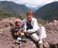 Photo: Woman Hiking with a Small Child