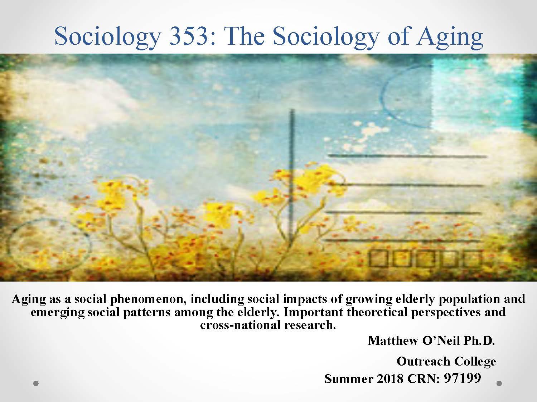 Sociology 353 Course