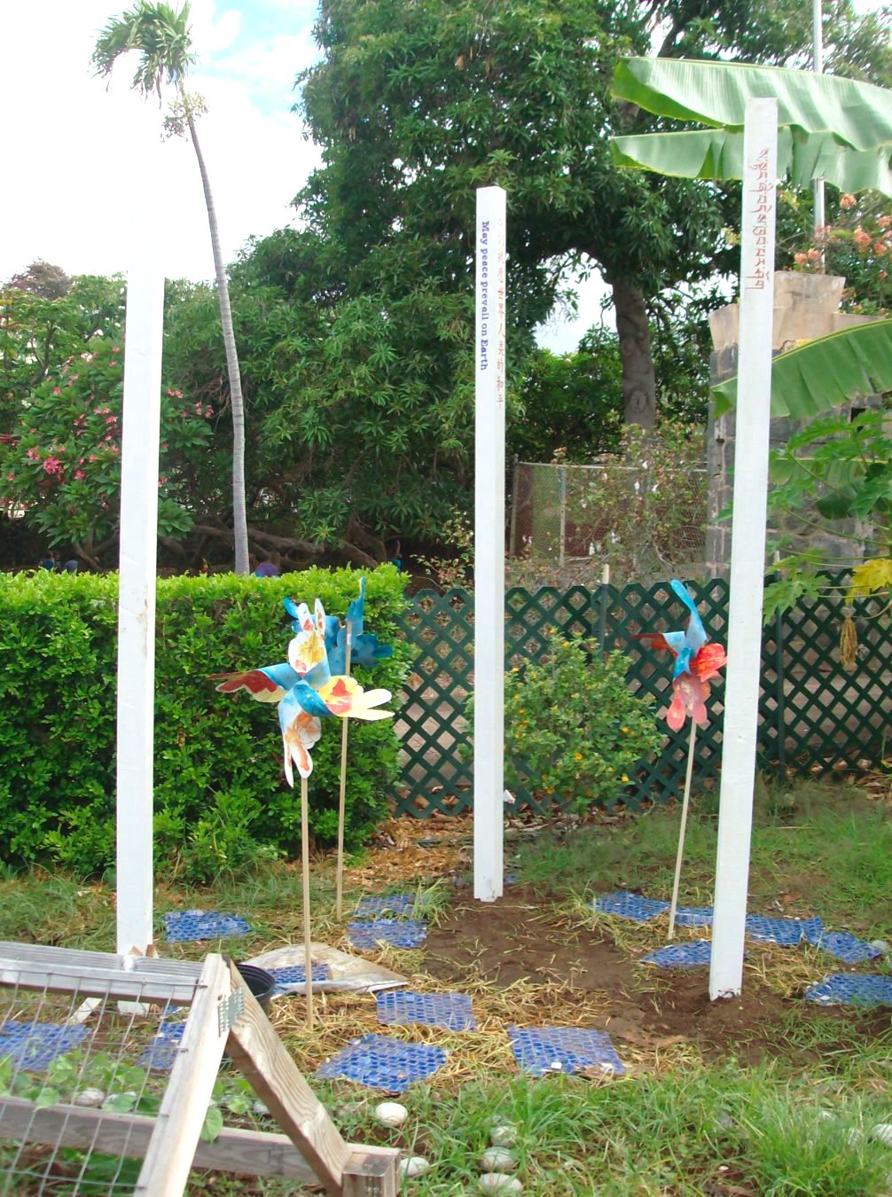 Peace Pole Garden and Pinwheels