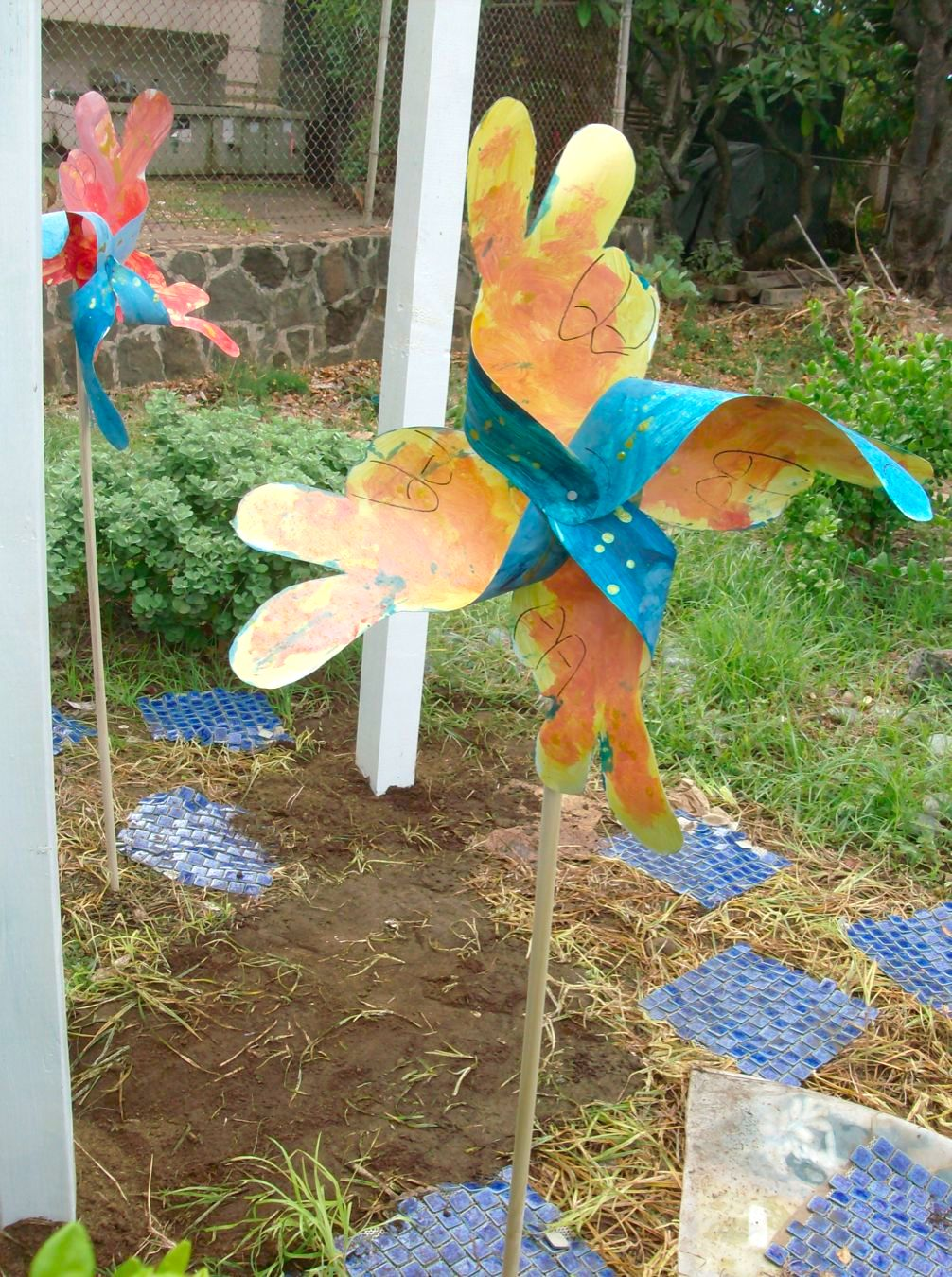 Peace Pole Pinwheels