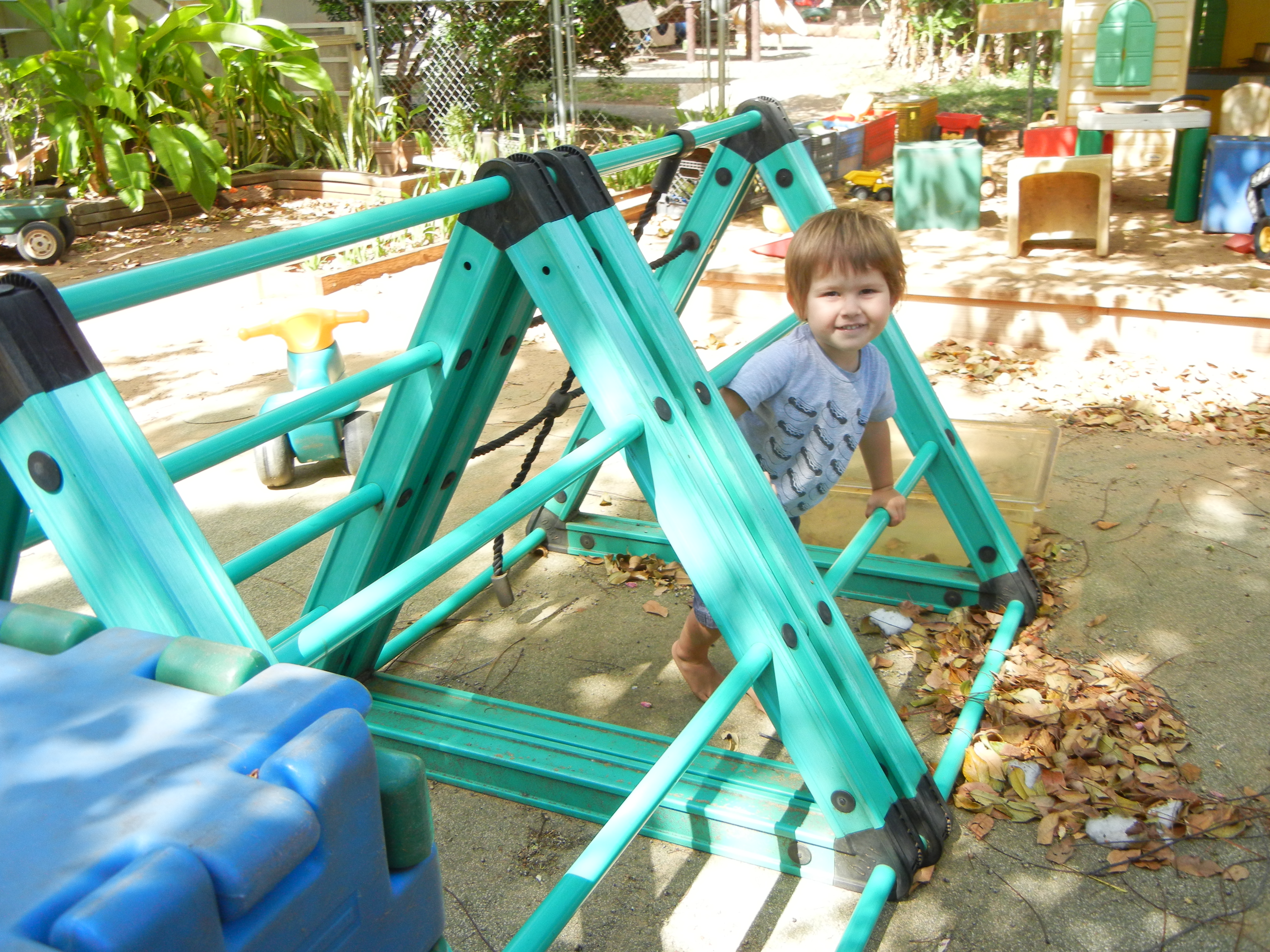 toddler climbing structure