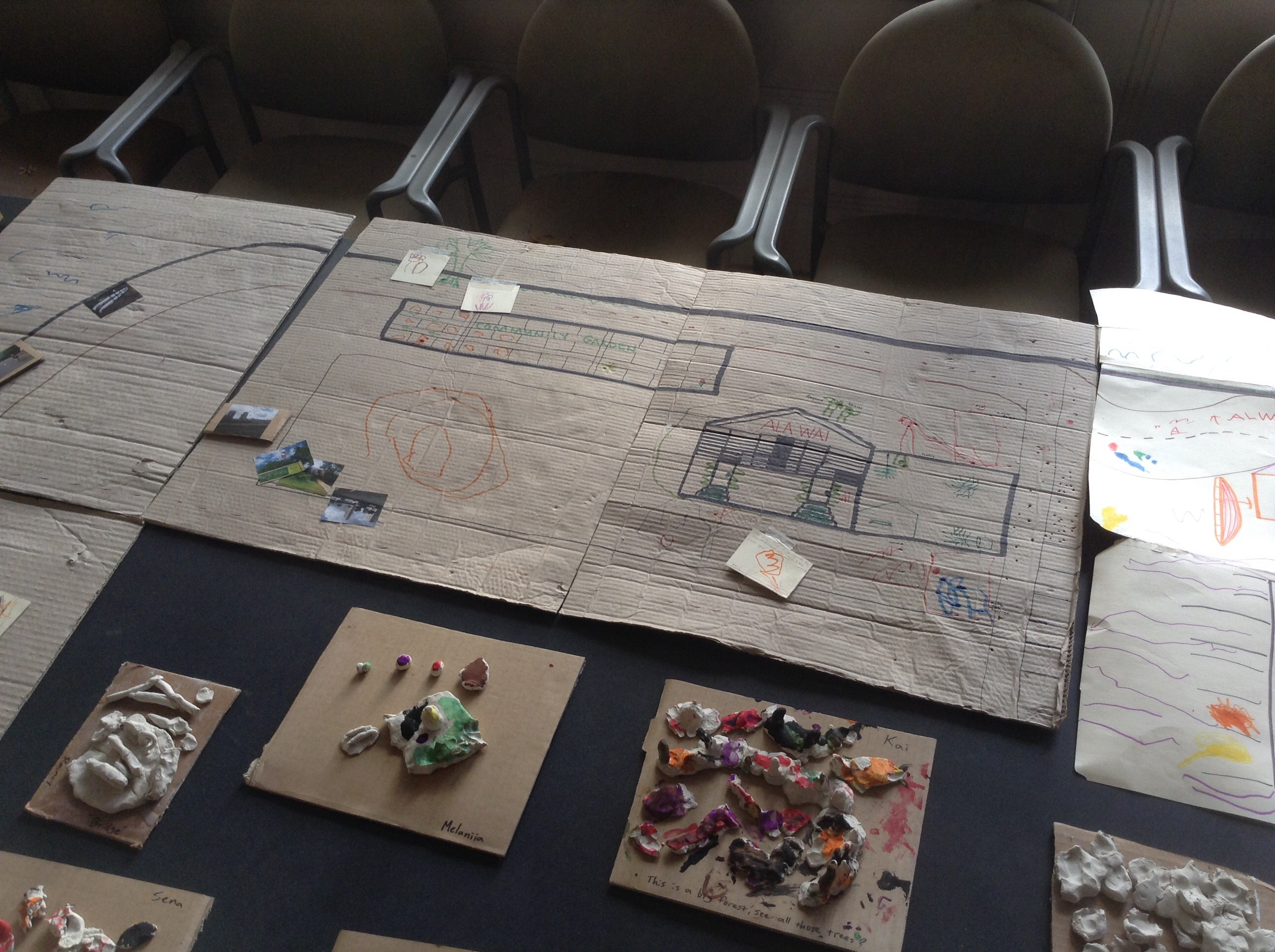 Ala Wai mapping and clay sculptures