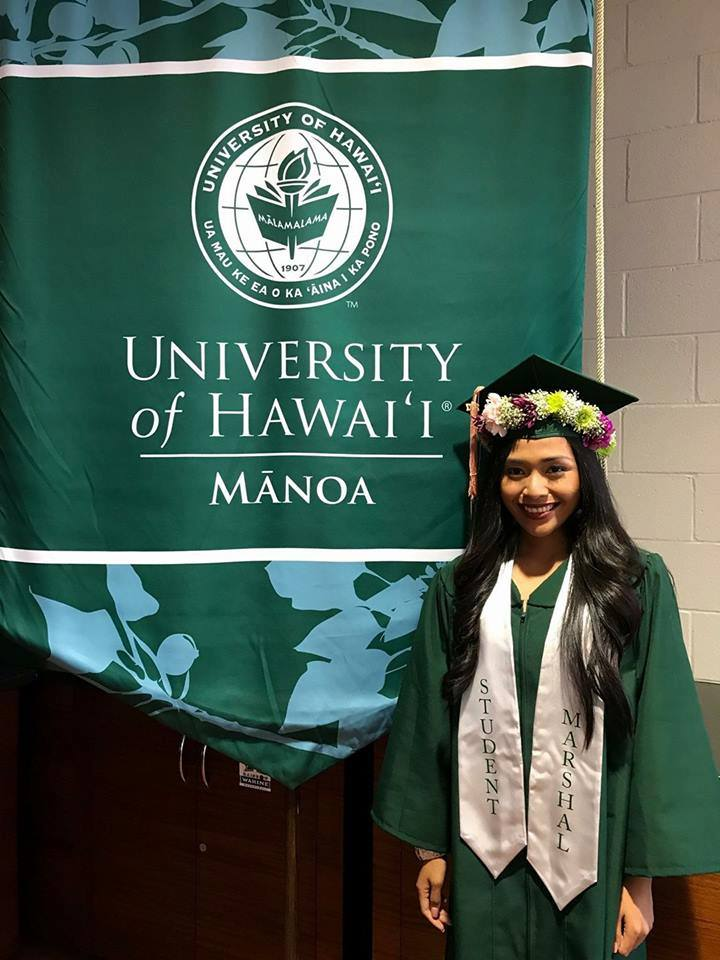 Reschi Karla Ramo, 21, graduates from the University of Hawaii-Manoa as a summa  cum laude, with a degree of Bachelor of Science in Public Health, ...