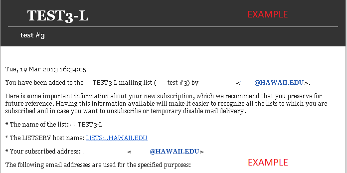 How Do I Set a Mail Template in LISTSERV? :: ASK US, University of ...