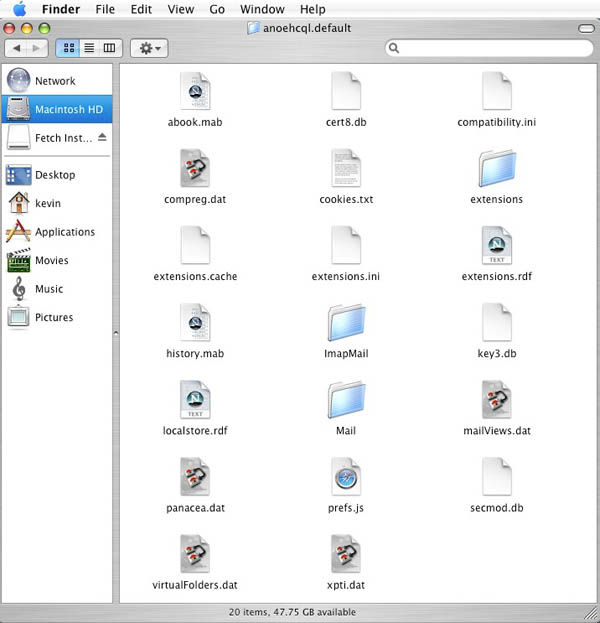 Backing up the Thunderbird for Mac OS X email folder :: ASK