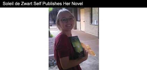 Soleil de Zwart Self Publishes Her Novel