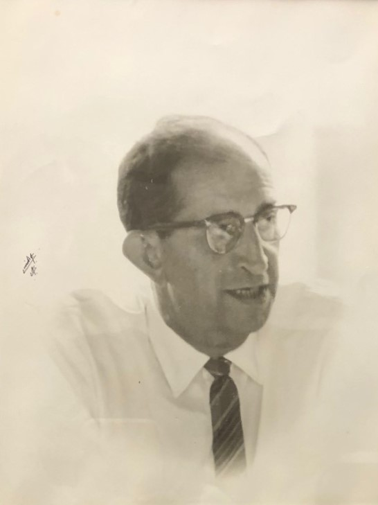 Black and white photo of the Founder of the UHM LIS Program, Ralph R. Shaw.