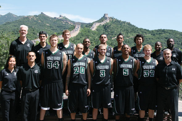 group shot of basketball players in China