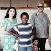 Ann Dunham with her children Barack and Maya and father, Stanley Dunham in Honolulu