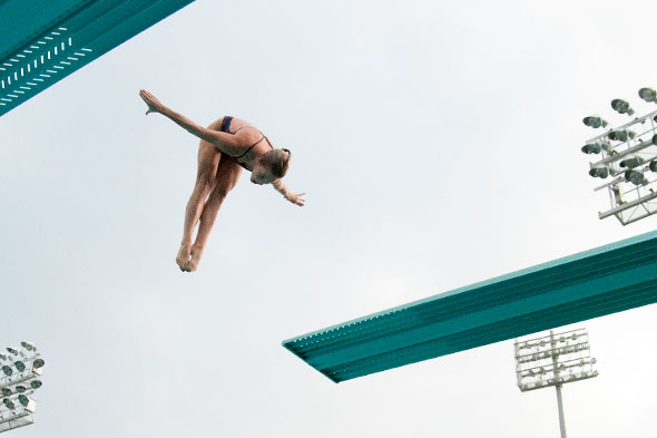 Emma Friesen in dive