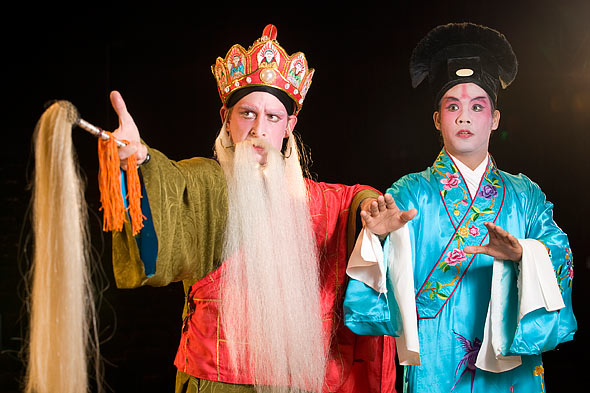 2009.12.Western actors in full costume  for Beijing opera