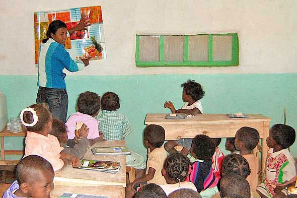 Classroom in Madagascar