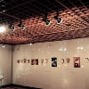 gallery display of noh and kyogen masks at the East-West Center