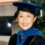 Tseng in graduation robes