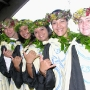 Hawaiian students in graduation garb