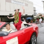 Tseng in the Merrie Monarch parade convertible