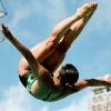 diver QiongJie Huang mid-air