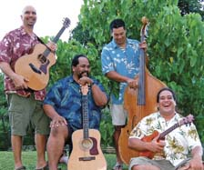 Musicians of the band Kuakahi