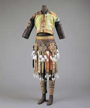 Dong Man's Ensemble, Xindi Style, from the exhibition  <em>Writing with Thread: Traditional Textiles of Southwest Chinese Minorities</em>