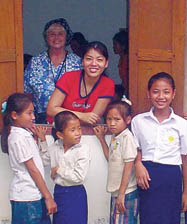 Gloria Tumbaga on a nursing mission to Laos