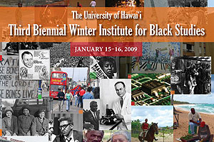 Biennial Winter Institute for Black Studies poster