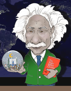 Christmas themed Einstein drawing