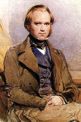 Young Charles Darwin, portrait by George Richmond