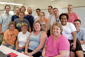 group shot of computer lab volunteers