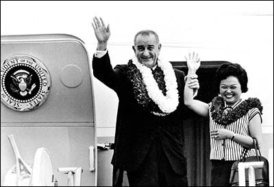 President Lyndon B. Johnson with Patsy Mink
