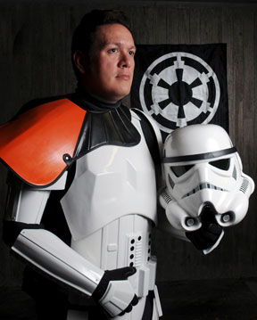 Tory Laitila in partial stormtrooper costume