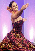 Miss Hawaii Raeceen Woolford dancing hula