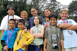 Group of pre-teens with cameras