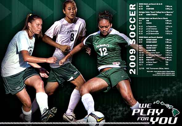 Manoa women's soccer team screen wallpaper