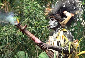tribal man from Papua New Guinea
