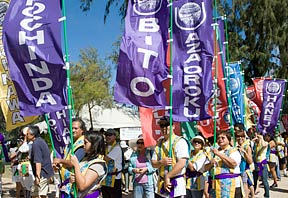 Okinawan festival parade