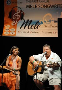Ruby Amanfu and Craig Wiseman present and perform for MELE students