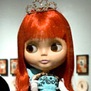 close up of Blythe doll