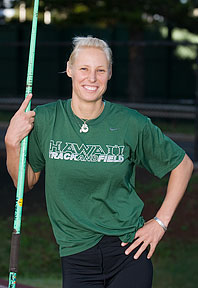 Annett Wichmann with javelin