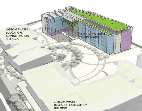 illustration of new cancer research center