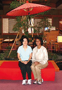 Researchers Diane Masuo and Lakshmi Malroutu
