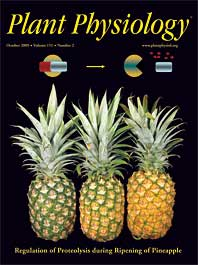 Plant Physiology journal cover with pineapples