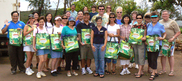 Group of people with buy fresh shopping bags