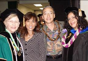 Virginia Hinshaw,  Janet Yoshida Bullard, Douglas Inouye, Maya Soetoro-Ng