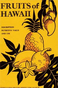 cover of historical publication Fruits of Hawaii