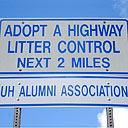 Adopt a Highway sign University of Hawaii Alumni Association