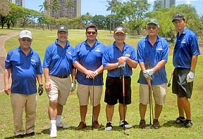 Engineering alumni golfers on the course