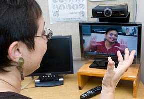 videophone demonstration