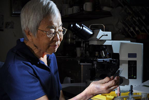 scientist in her laboratory