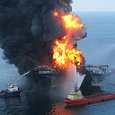 Deepwater Horizon oil spill fire