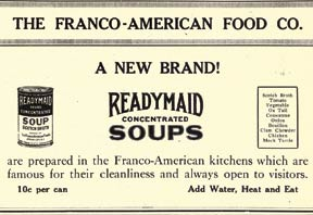advertising for instant soup in from Housewives League Magazine